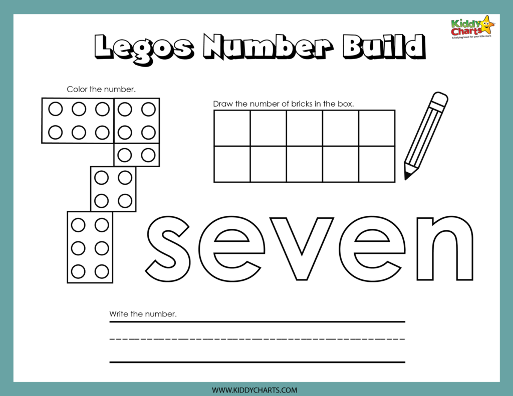 Lego numbers seven