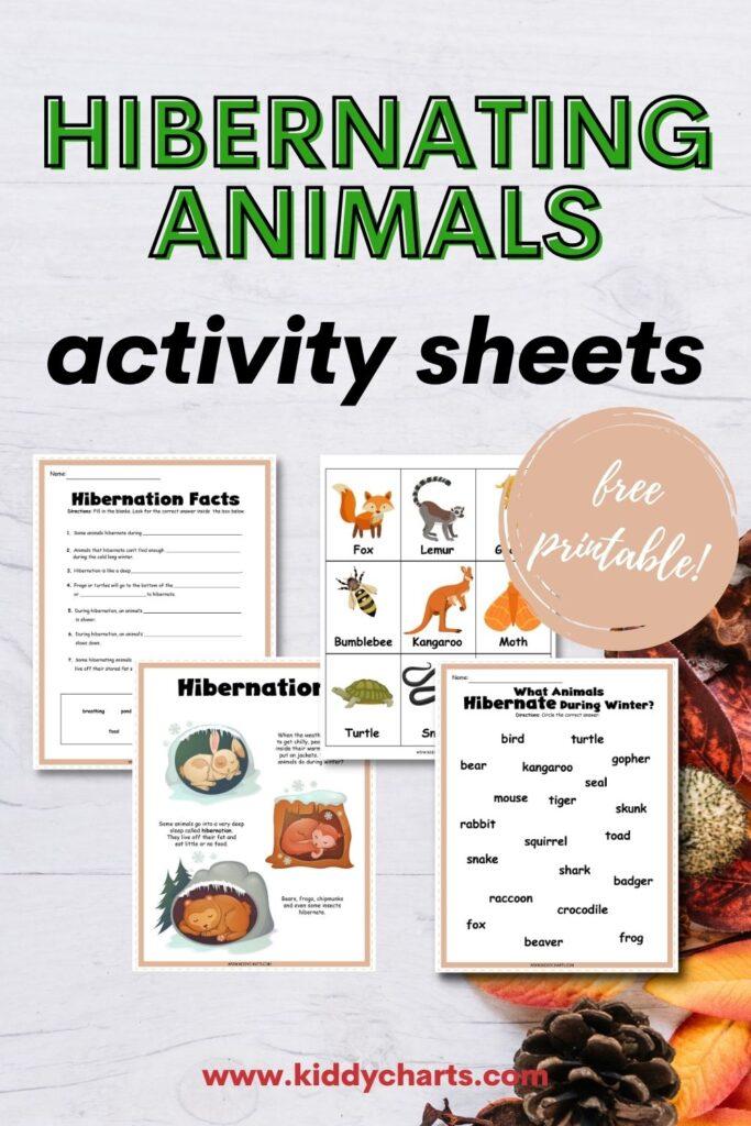 Hibernating animals activity sheets