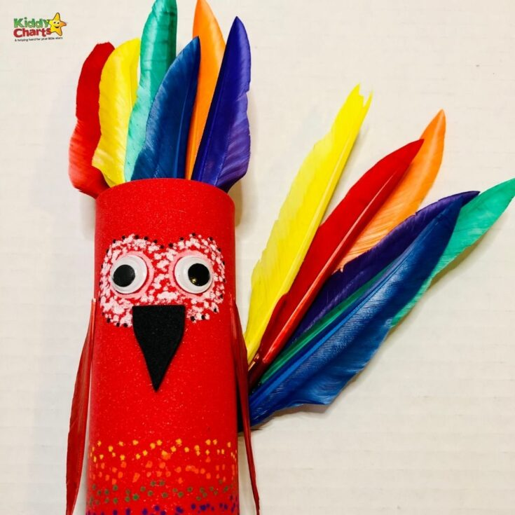 Toilet Roll craft: Feathered friends