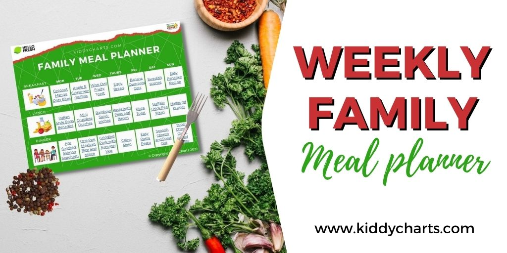 Weekly family meal planner | Ad