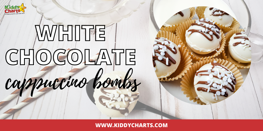 White chocolate cappuccino bombs