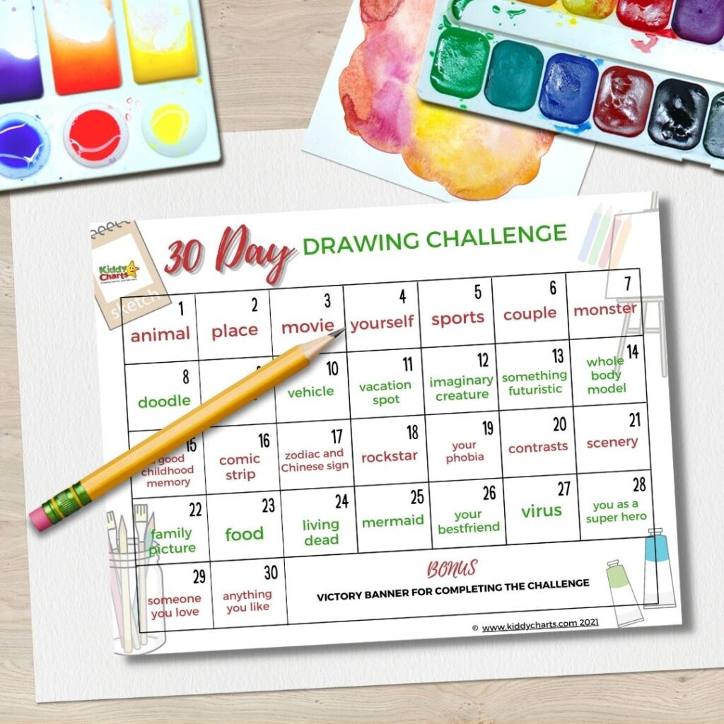 Cool 30 day drawing challenge