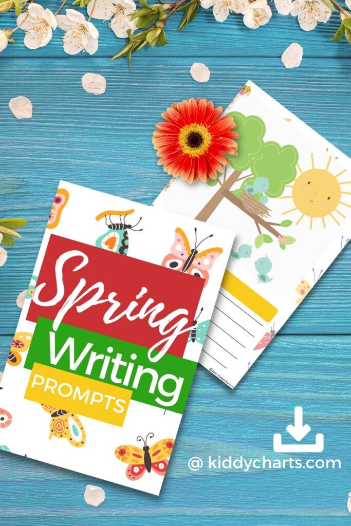 Spring worksheets - header