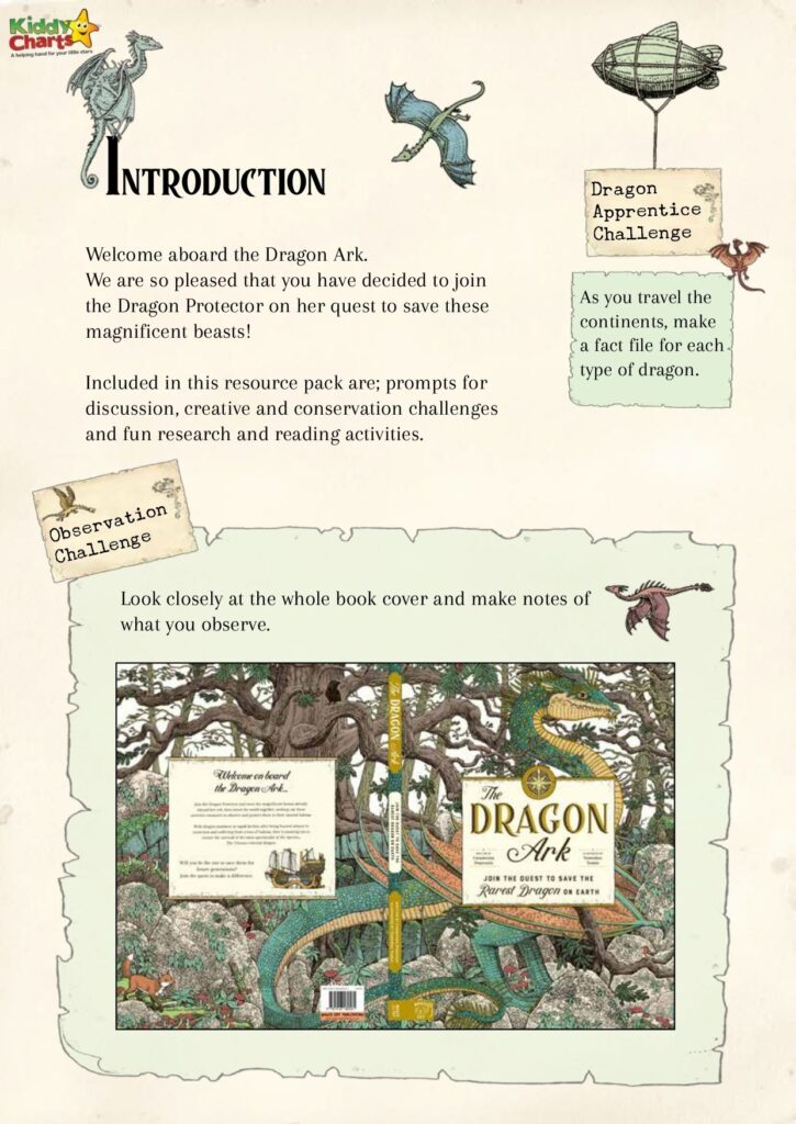 The Dragon Ark worksheets introduction