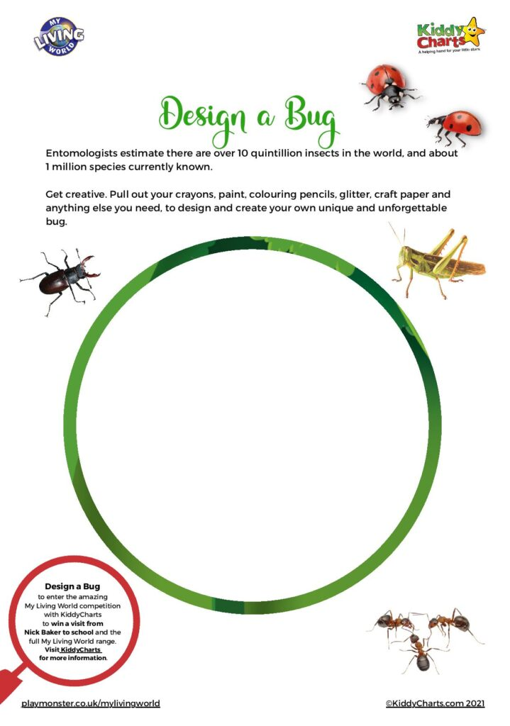 Bug worksheets with My Living World