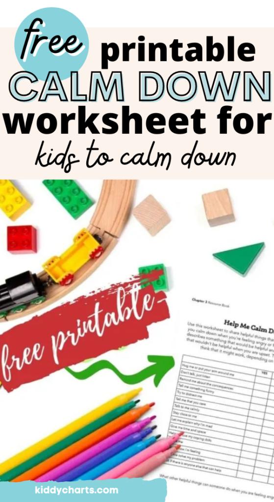 calm down worksheet