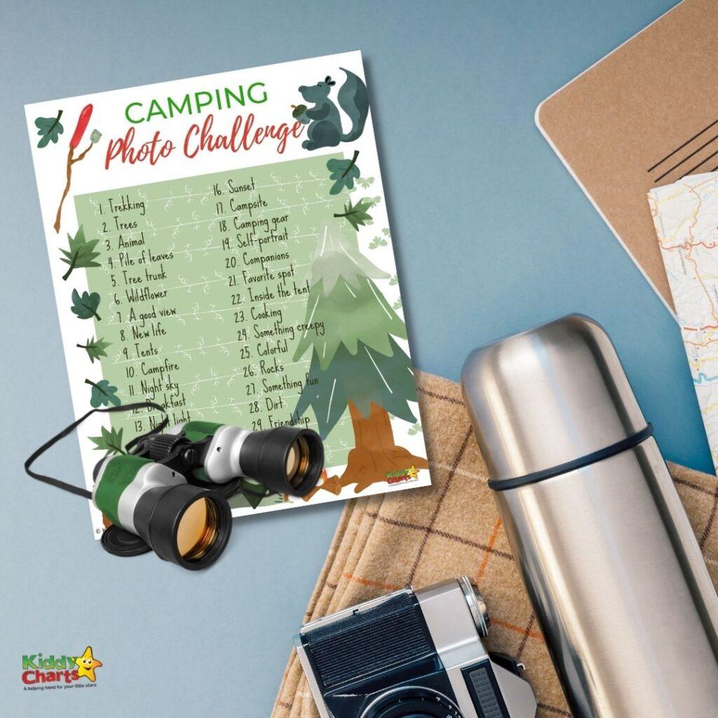 Camping photo challenge equipment