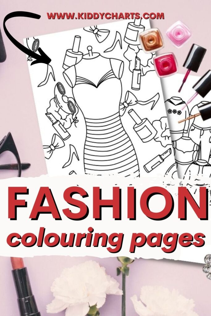 Fashion colouring pages for kids