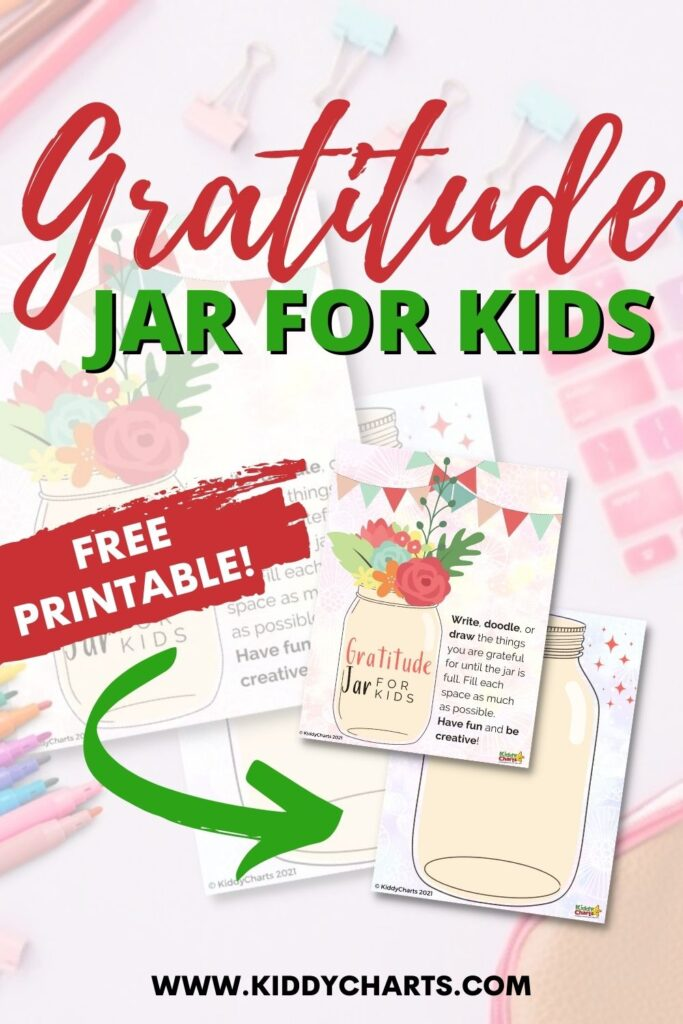 Gratitude jar for kids