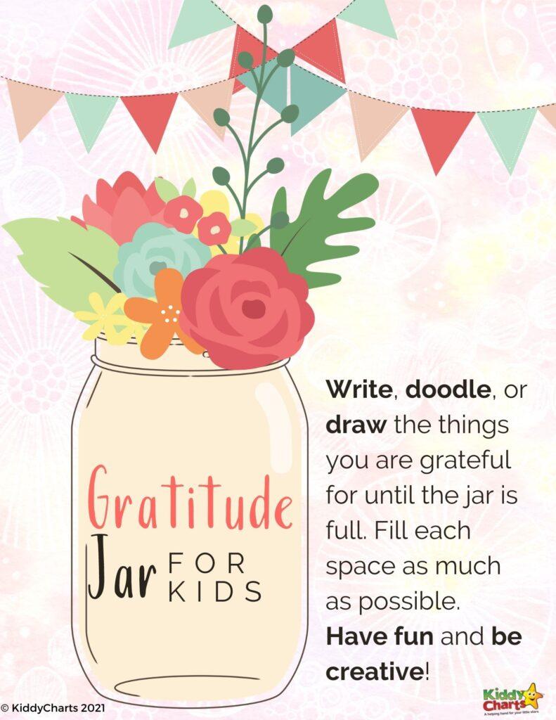 Gratitude jar for kids printable