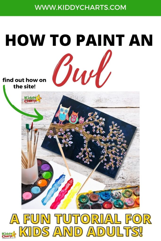 How to paint an owl