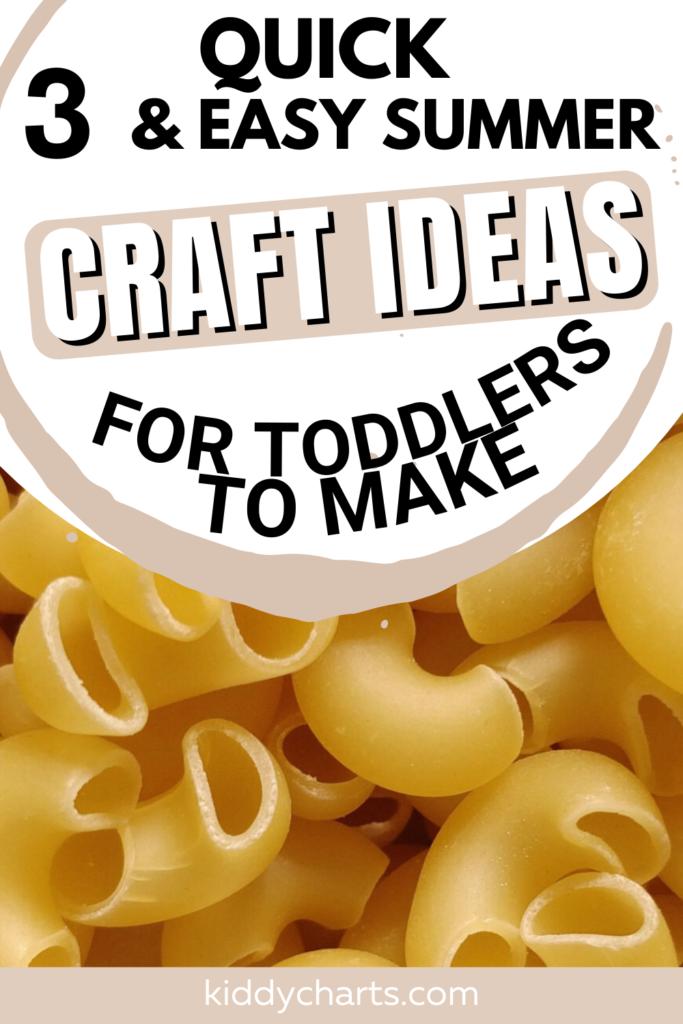 3 Quick Summer Craft Ideas