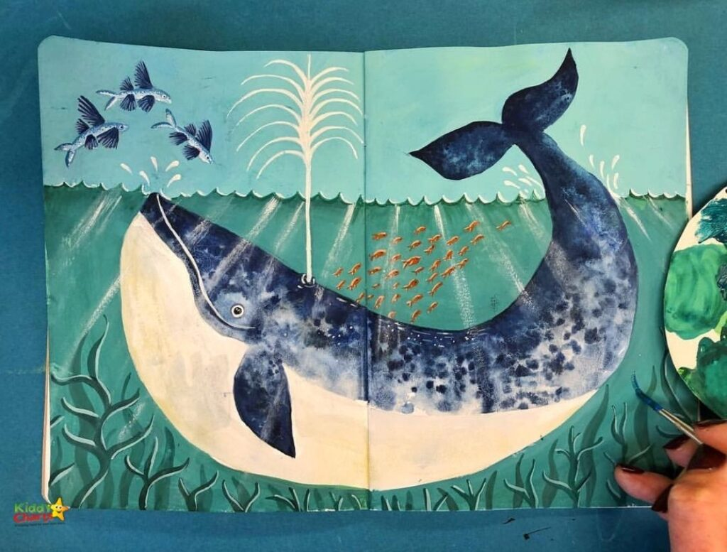 Paint a whale picture with your kids
