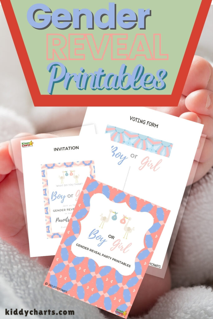 Gender reveals: Party printables and invitation