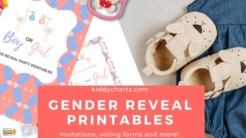 Gender reveals Party Printables