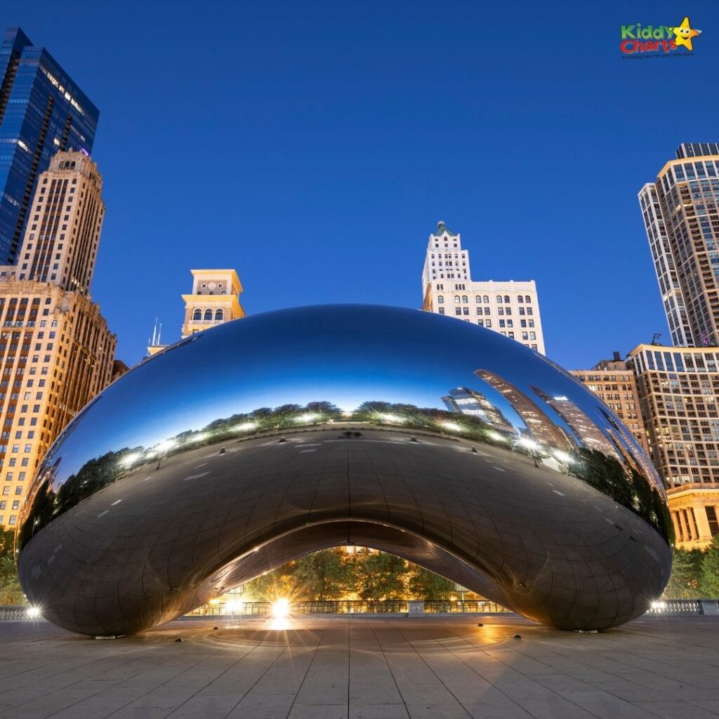 Things to do with Kids in Chicago cloud gate