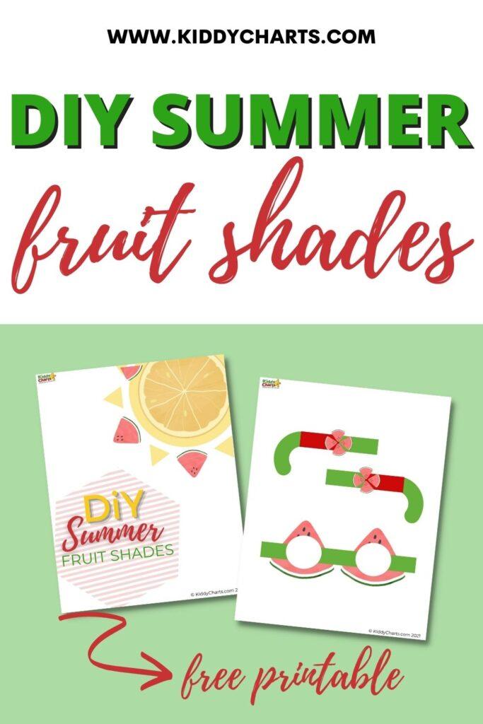 DIY summer fruit shades