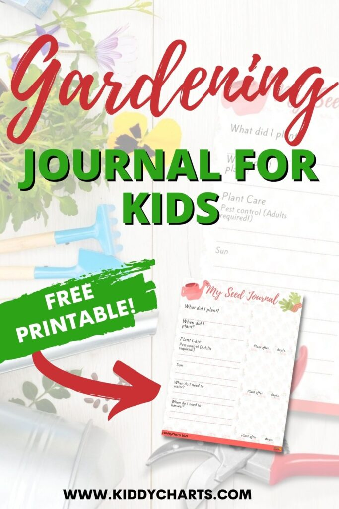 Gardening journal for kids: My seed journal