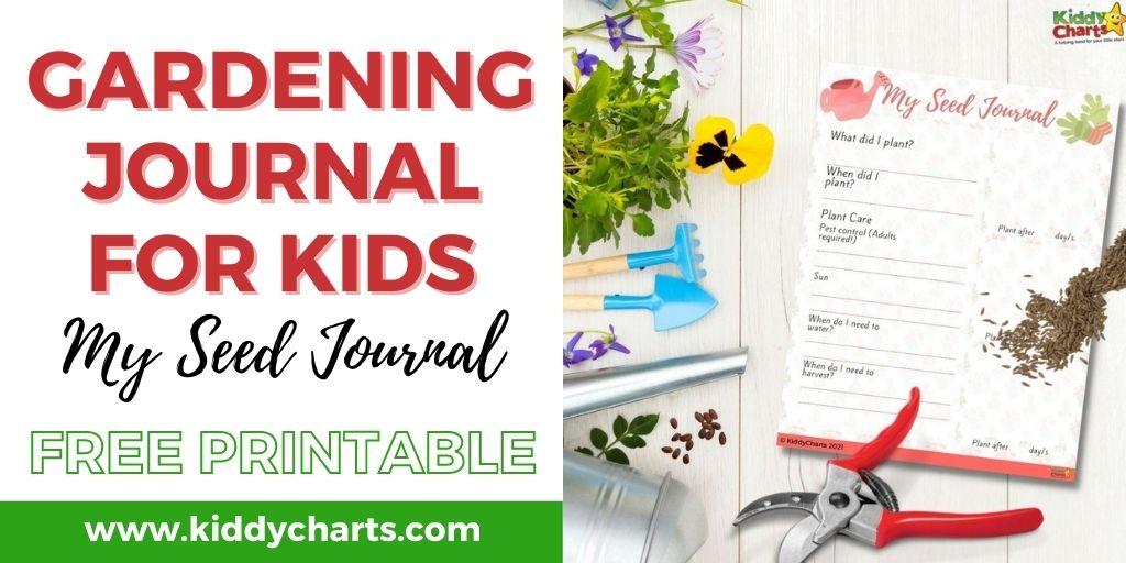 Seed journal printable