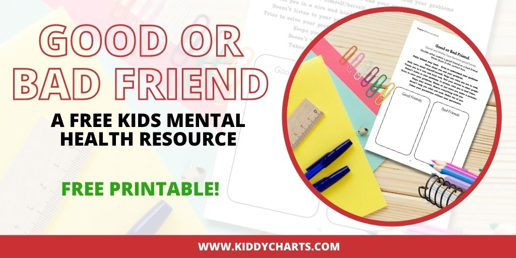 Good friend activity printable for kids