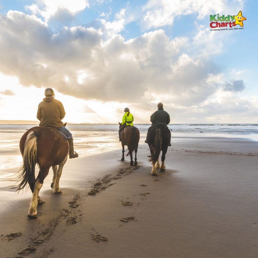 Horse riding in the Seychelles with kids
