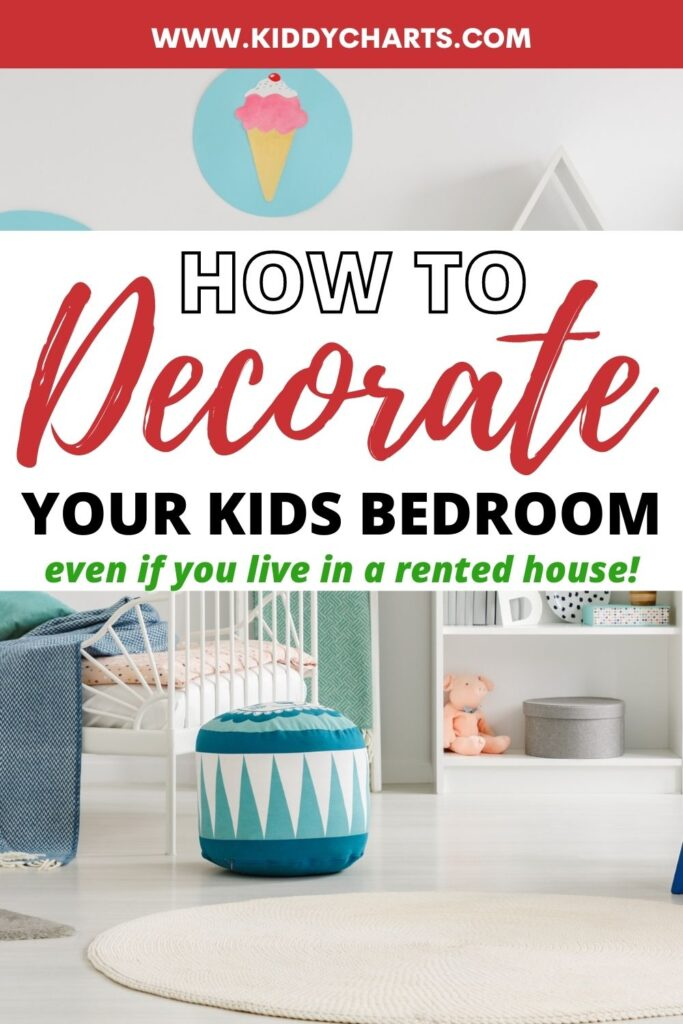 How to decorate a children's bedroom in a rented property