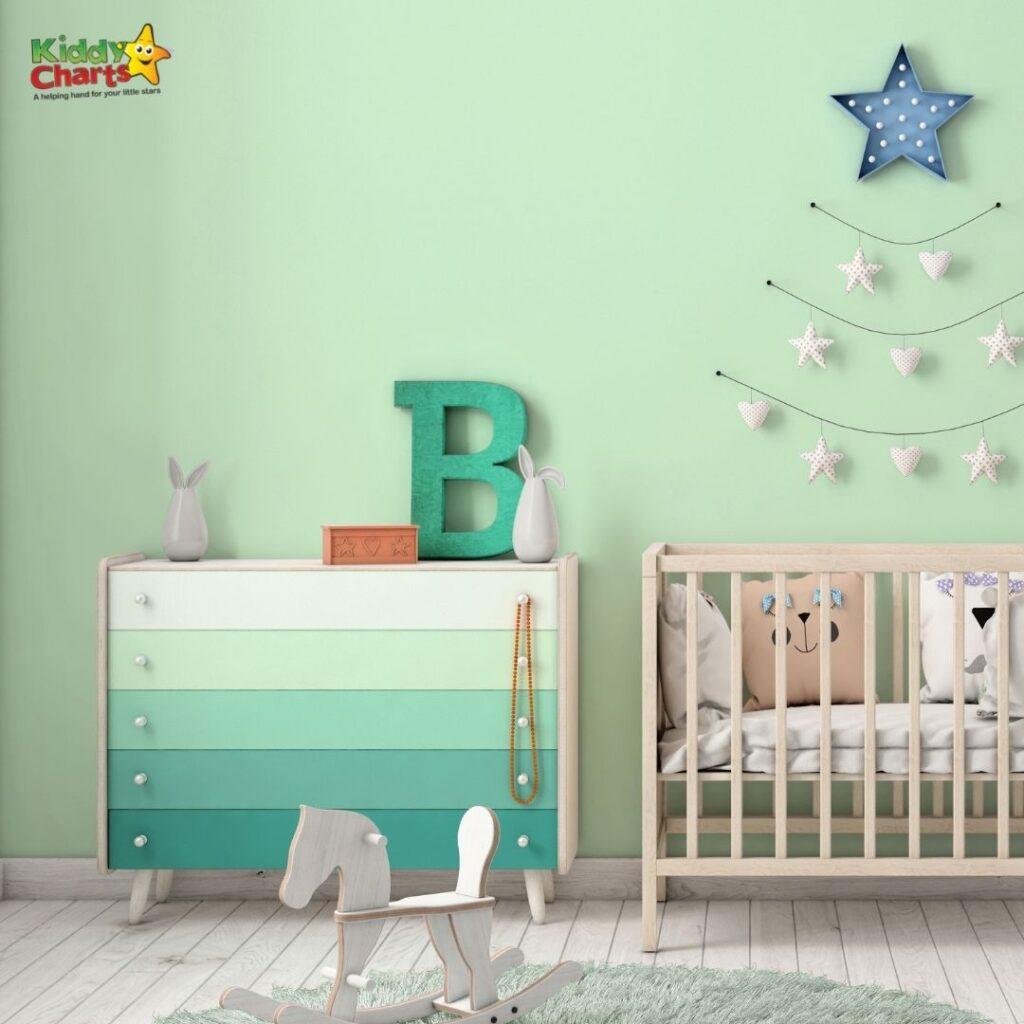 Nursery checklist and  wall art