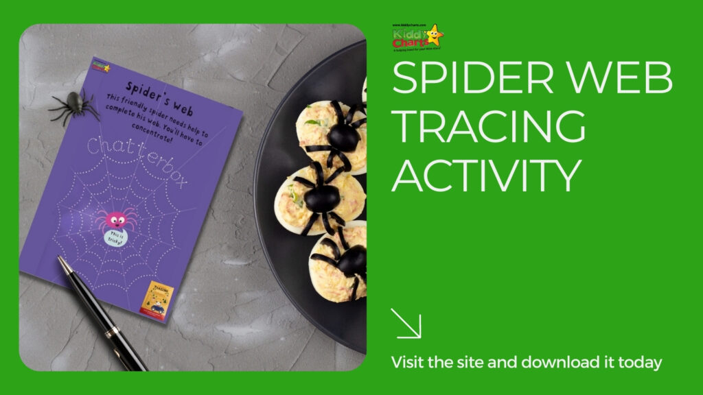 Personalised books spider web tracing activity