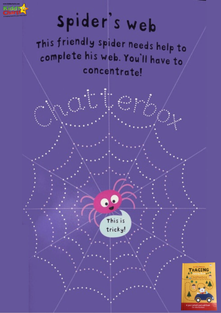 Personalised books chatterbox spider web