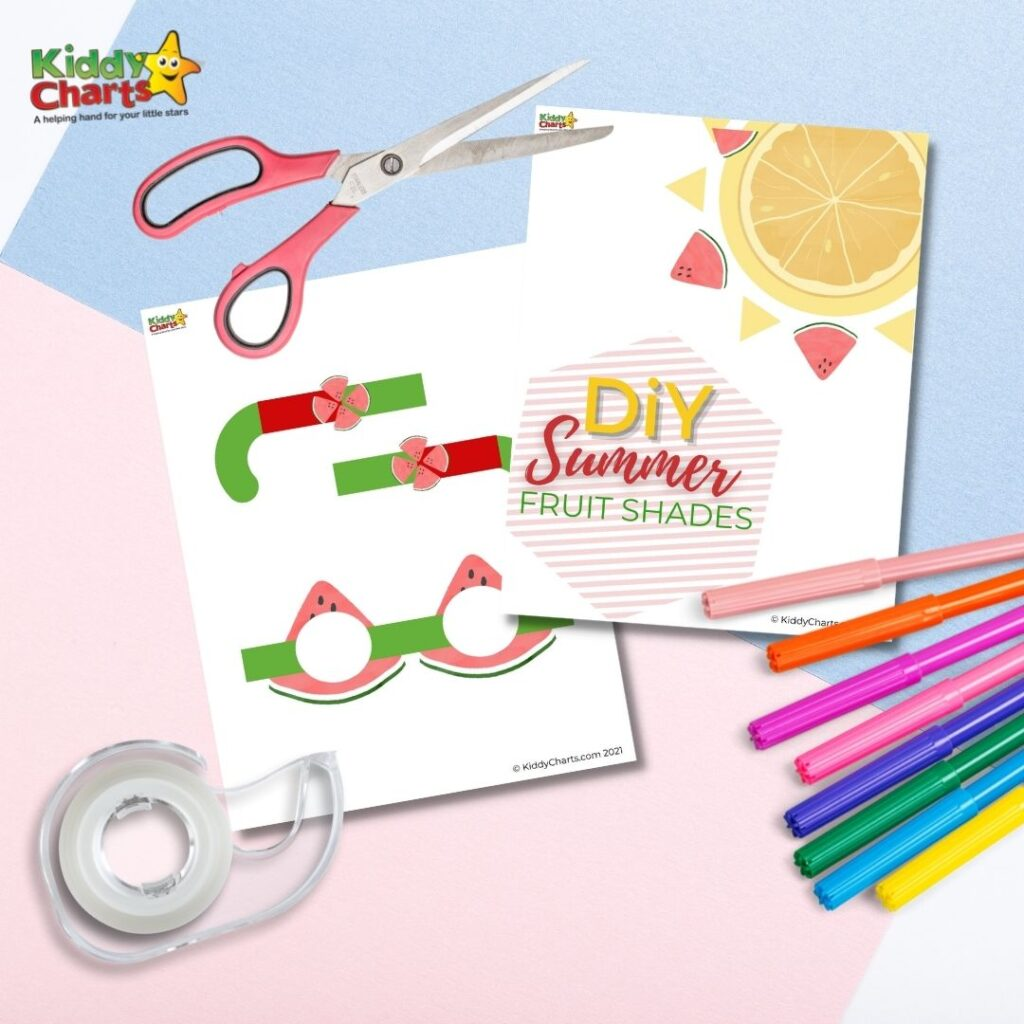 DIY summer fruit shades printables