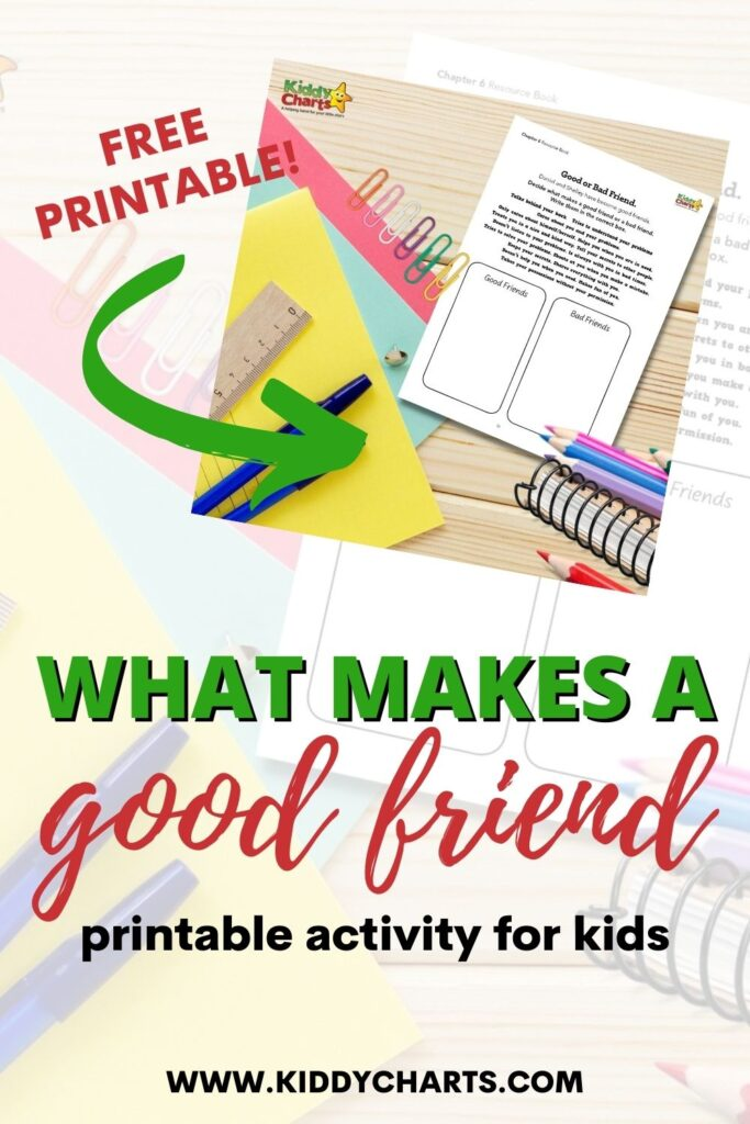 What makes a good friend activity for kids