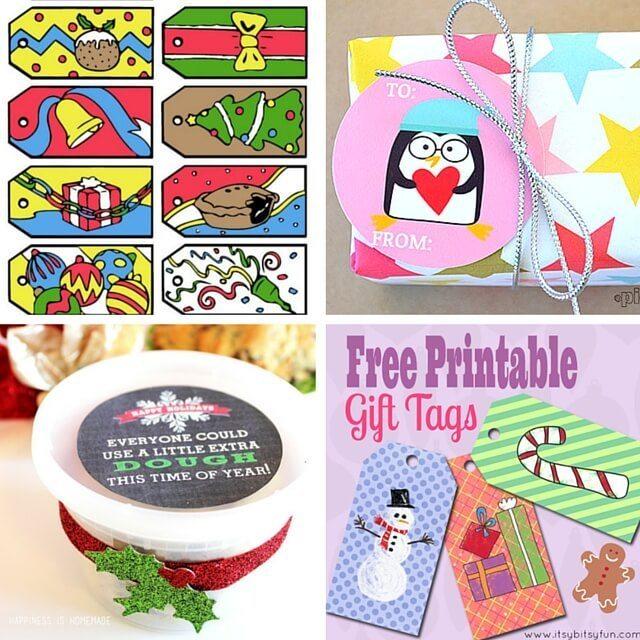 25 Free Christmas Lables Printables