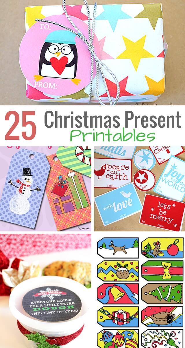 25 Free Christmas Present Printables