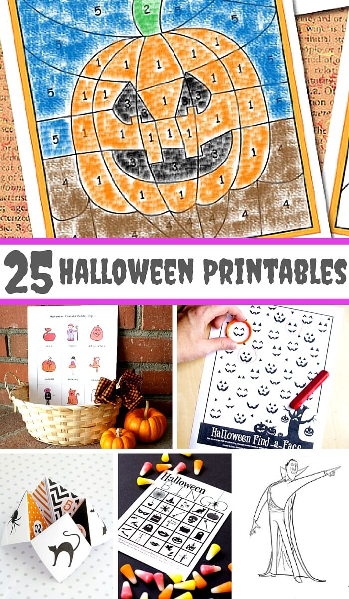 25 Halloween Printables for Kids
