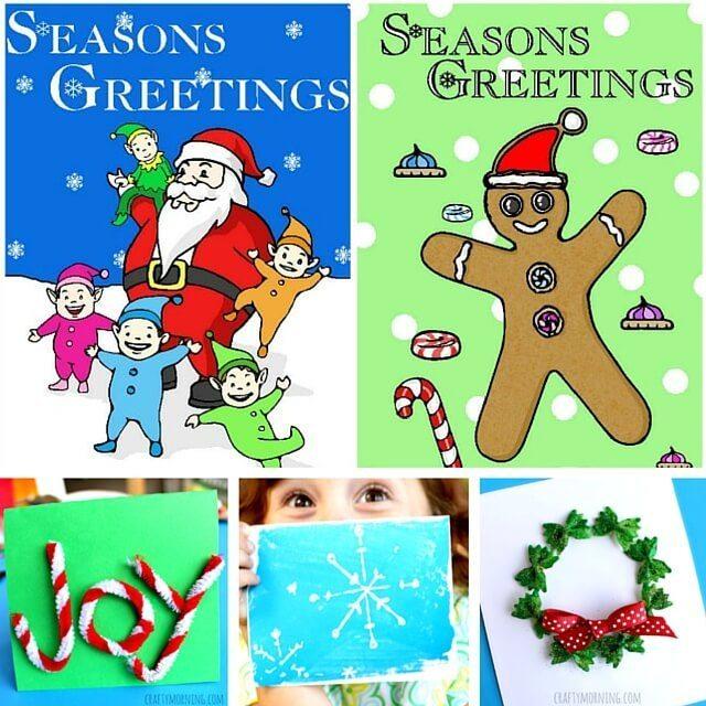 30 Christmas Cards Kids Can Make 1