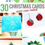 30 Christmas cards for kids to make