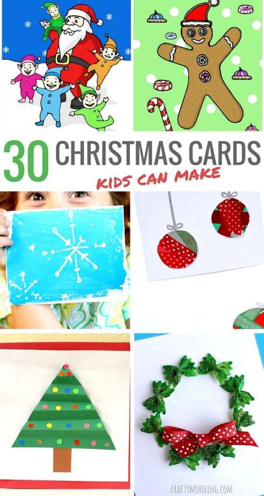 30 Christmas Cards Kids Can Make