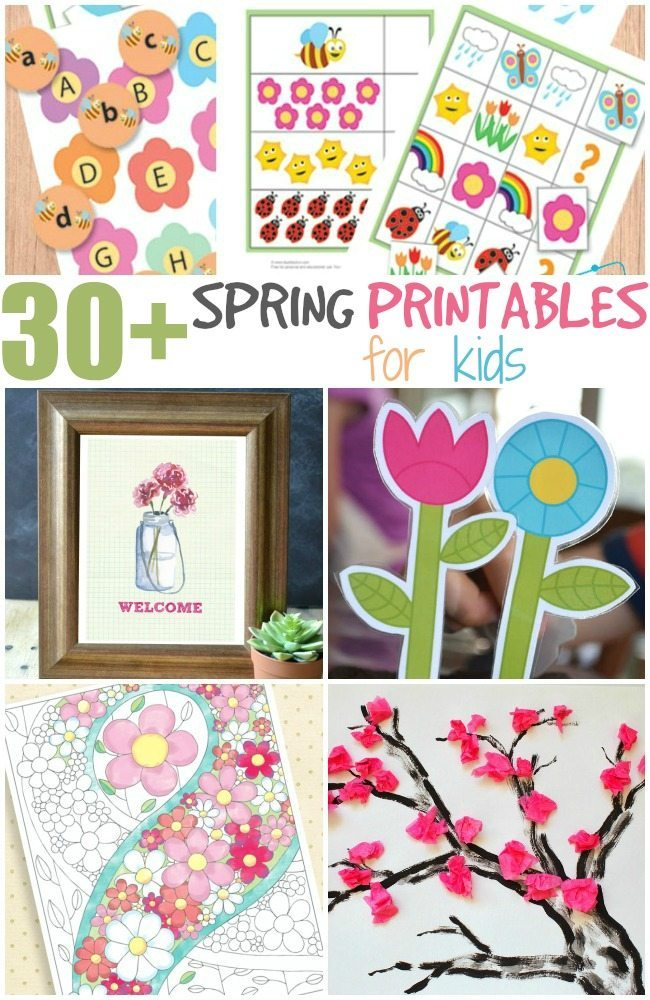 30+ Spring fun printables for kids
