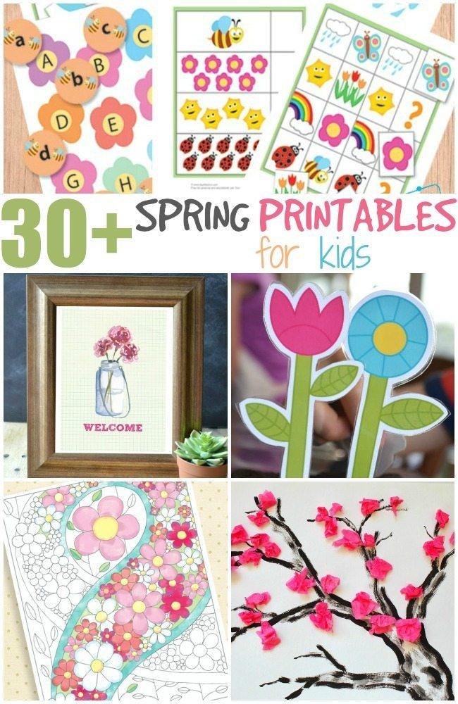 30+ Spring fun printables for kids