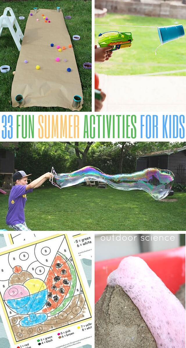 33 Fun Summer Activities For The Kids