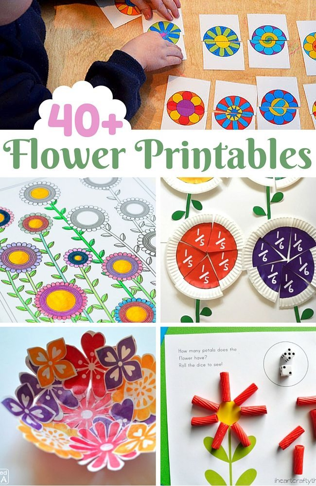 40+ Flower Printables for kids and adults