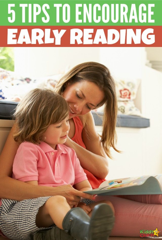 5 tips to encourage early reading. #encouragereading #kidsreading #booksforkids