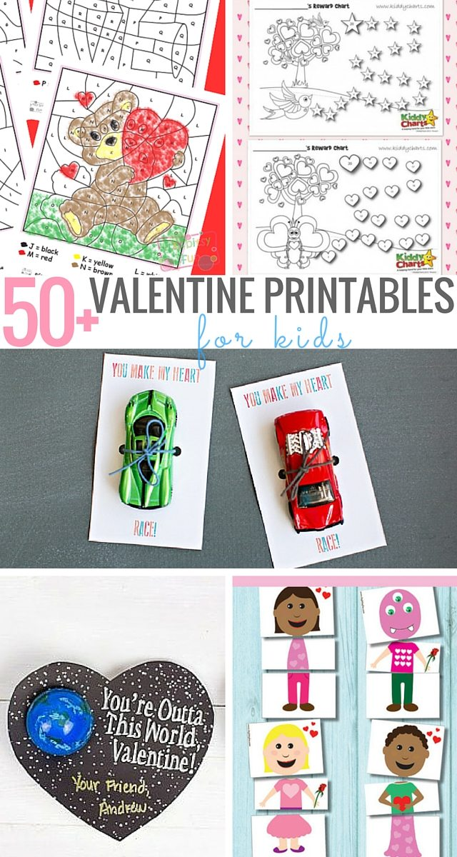 50+ Valentine Printables For Kids