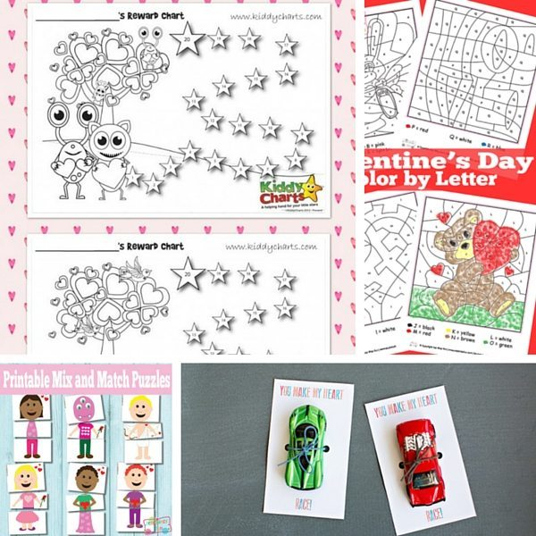 50+ Valentine Printables for Little ones