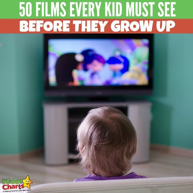50 cool films every kid must see before they grow up