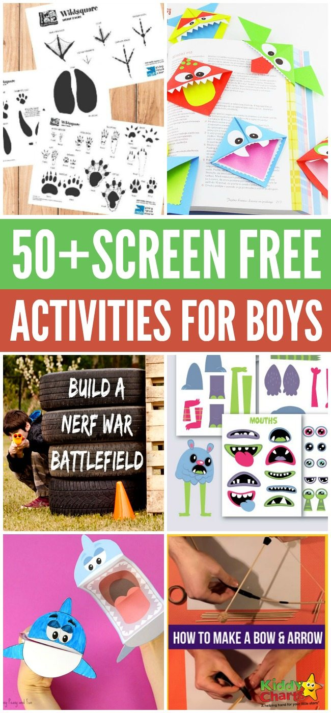 50+ screen free activities for boys