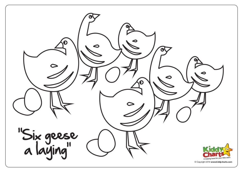 Today we have another printable in our 12 Days of Chistmas series - six geese a laying!