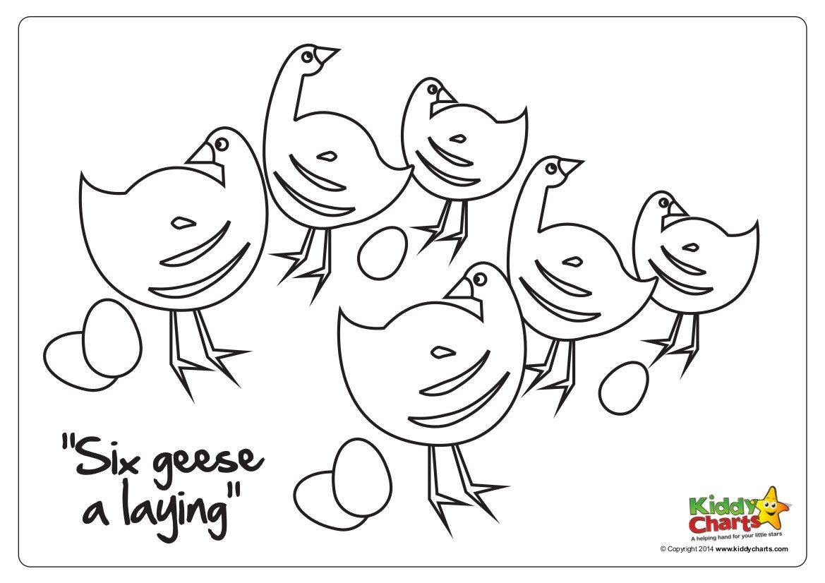 On the 6th day of Christmas six geese a laying