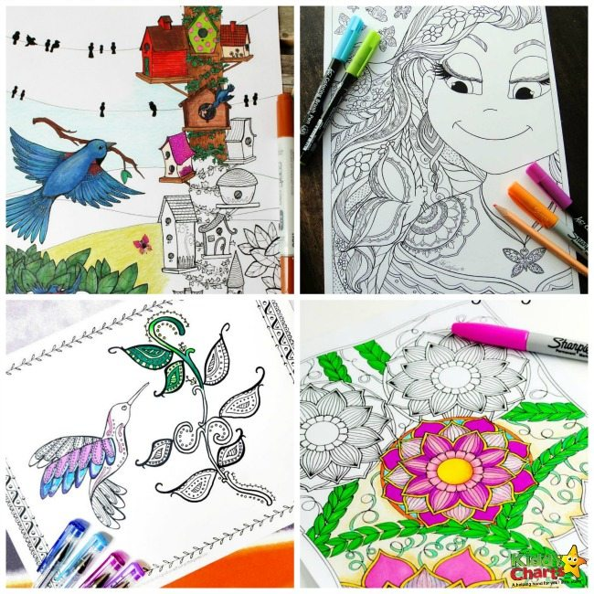 A Bunch of Free Printable Adult Coloring Pages