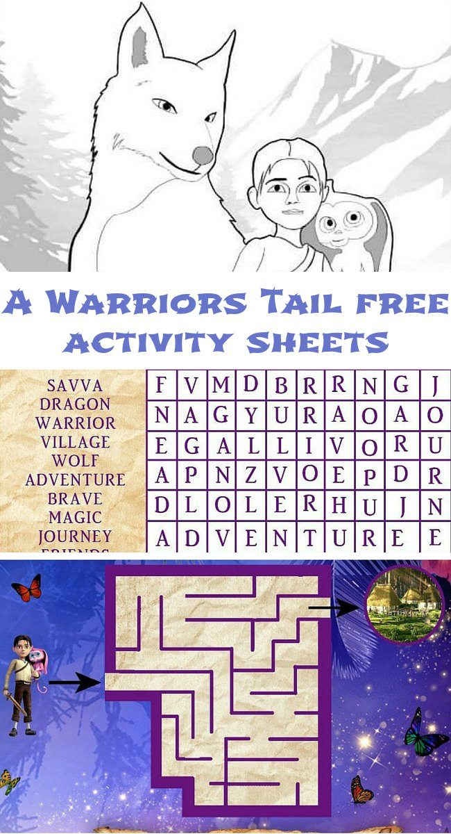 A Warriors Tail free activity sheets for kids
